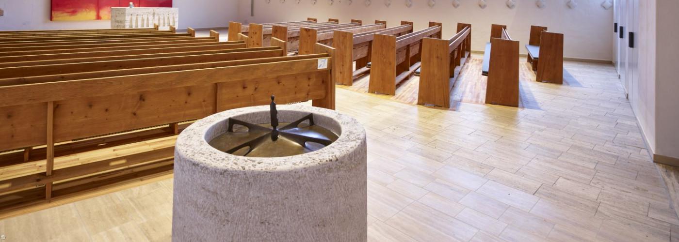 Taufbecken in der Christuskirche